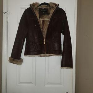 Misses Suede Faux Fur Jacket